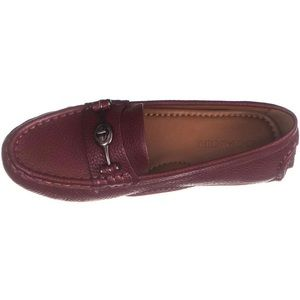 Coach Crosby Round Toe Loafers, Merlot, 9 US